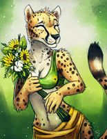 Sunflower Cheetah by TasDraws