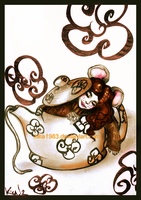 Alice in wonderland: Dormouse by kika1983