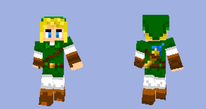 Minecraft skin Link by Ikasama