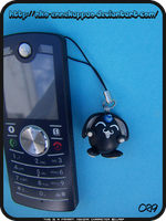 Black Mokona phone charm by Nko-ennekappao
