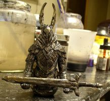 Dark Souls Black Knight Mini With Sword by futantshadow
