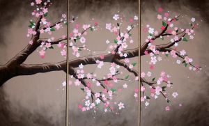 Cherry Blossom painting by paintedfingers