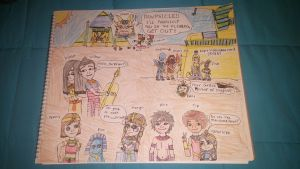 Margiro and friends Egyptian AU 2 by PeteDRaptor