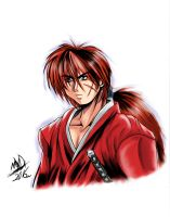 Himura kenshin the wanderer (Color) by Penzoom