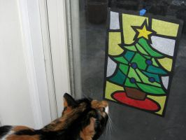 Stained Glass Christmas Card by conduitgirl