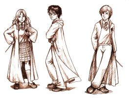 Harry Potter Bookmark Drawings by Aycelcus