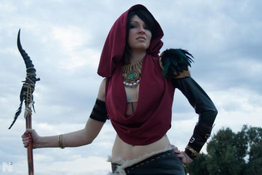 Morrigan Close up by MaiseDesigns