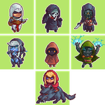Week Pixel Challenge - Hooded People by Mirugin
