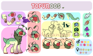[Closed species] Torunoos detail sheet by SpectroDraqon