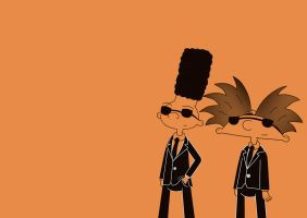 Reservoir dogs, Hey arnold ver: by HeboFreire