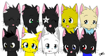 WindClan Members by bubblyvubblies
