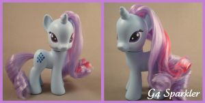 G4 Sparkler custom pony by hannaliten