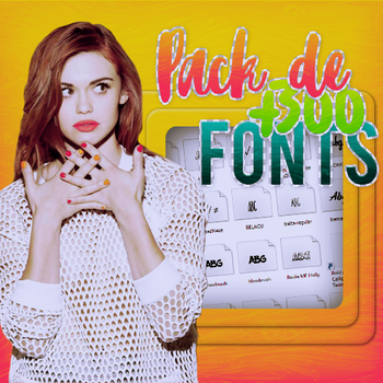 Pack de +3OO Fonts by PauObrienEditions