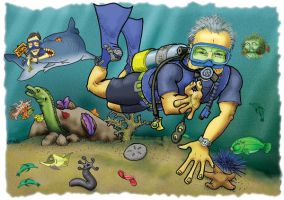 Scuba Diver by sethness