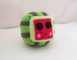 Watermelon Cube Plushie by Cube-lees