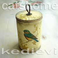 decorative tins made by napkin decoupage 2 by catshome
