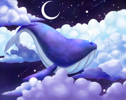 Flying Whale by ButterflyWisps