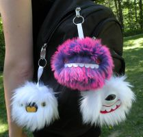 Keychain monsters by loveandasandwich