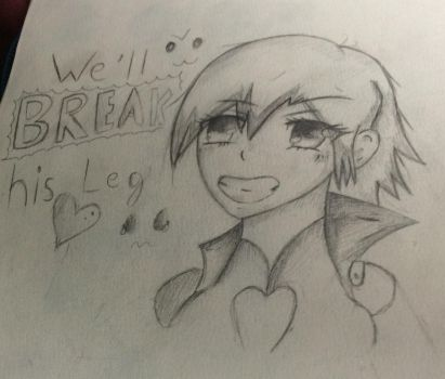 Anime practice drawing of a RWBY character I like by DexHearts