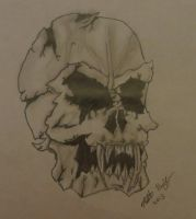 Demon Skull (Remake of Devilish Evil Skull) by WithASideOfFries