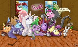 Dragon party! by DinoDraketakethecake