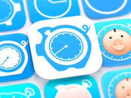 HoursTracker iOS App Icon by Ramotion