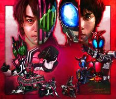 Kamen rider decade and kabuto by Johnnyowx