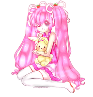 Pink Miku - Colored Lineart by MitsukoBunny-chan
