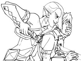 Murder lineart :Skyward Sword: by JereduLevenin