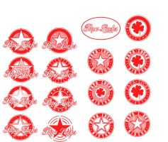 Papa Luck's : Logo Variations by crushed-melon