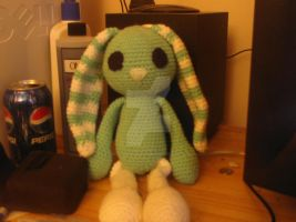 Crochet bunny by PaintedButterfly2008