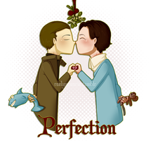 Cherik: Perfection Holiday Card by RaelynnMarie