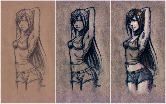 stages of drawing by sashajoe