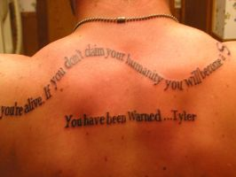 Matt's Tattoo - From Tyler by G2KSurivemors