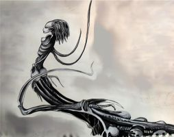Another Giger lady by Darkmoonlilly