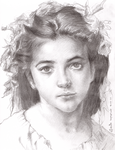 Drawing after a painting of William Bouguereau by theartventurer