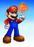 Smash Veteran Mario by SonicKnight007