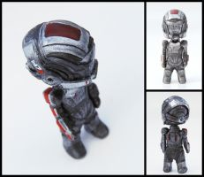 Pocket-Sized Commander Shepard by liadys