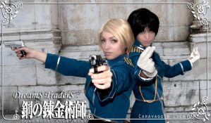 Roy Mustang + Riza Hawkeye Cosplay - Call of Duty by Artemisia-Amore