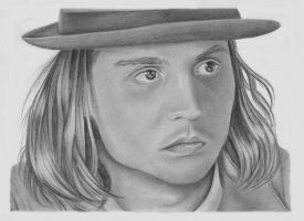 Johnny Depp by drawingyourattention