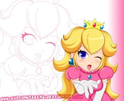 Princess Peach Naughty Colored by ShaianWillems