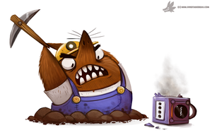 Daily Paint #1047. RESET THIS! (delayed daily) by Cryptid-Creations