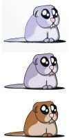 frightened gerbil by pwg
