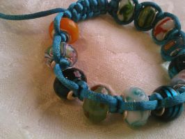 Phunky blues bracelet by PhunkyMnkCreations