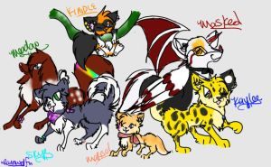 Yey for group pics :3 by rainwolfeh