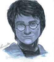 portrait of harry potter by praneeth388