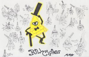 Soo much Bill Cipher! by NeonRedWings