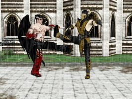 Art Trade: Devil Jin vs Scorpion by MissCatarina