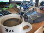 Soundwave stirring coffee by Rapt3rX