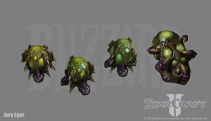 Starcraft 2: Zerg Egg s by PhillGonzo